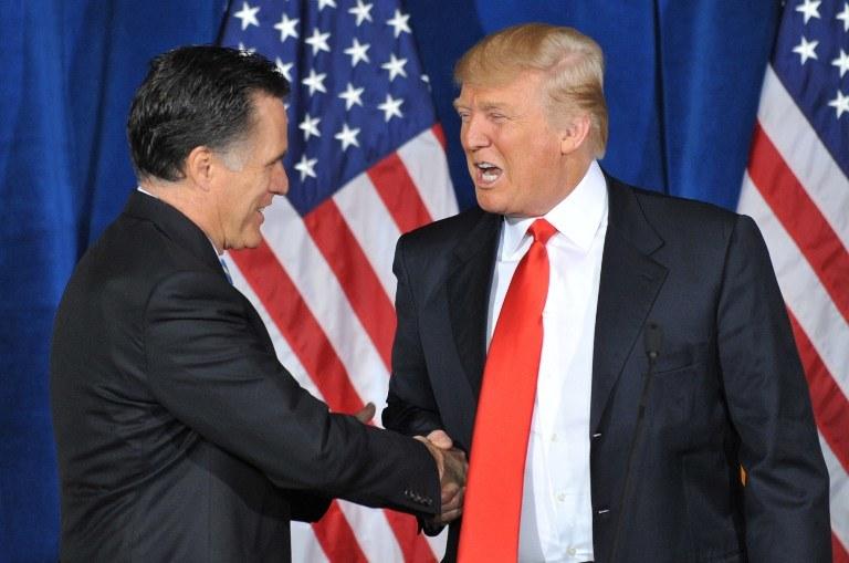 Mitt Romney i Donald Trump /AFP