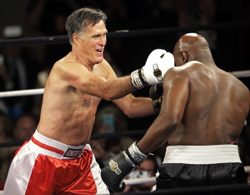 Mitt Romney w ringu /AP/FOTOLINK /East News