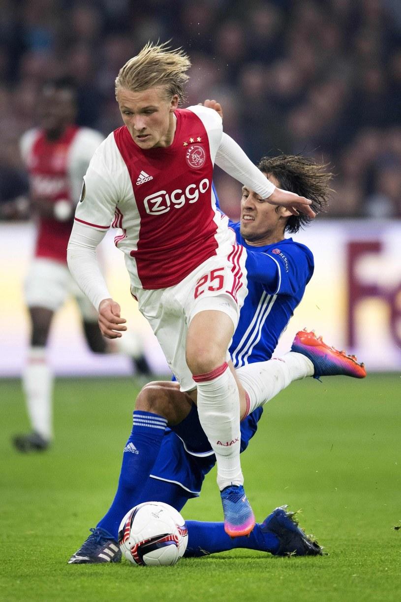 Młoda gwiazda Ajaksu Amsterdam Kasper Dolberg /AFP