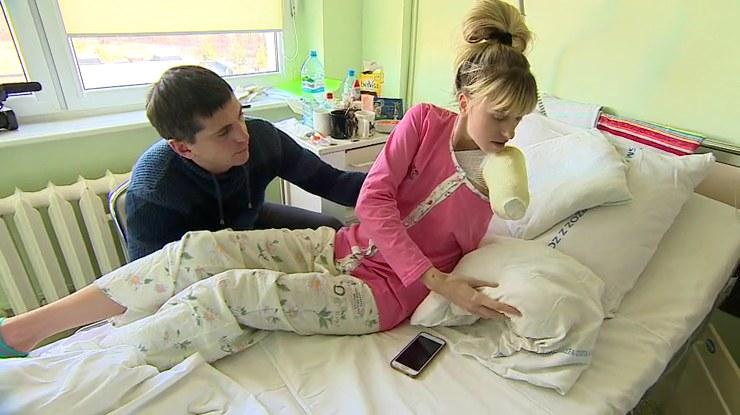 Młoda Ukrainka straciła rękę w pralni /Polsat News /materiał zewnętrzny
