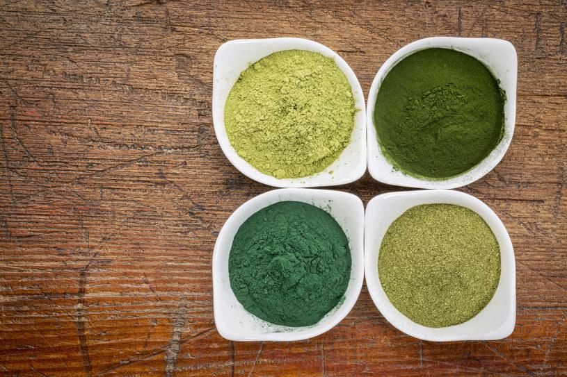 Młody jęczmień, spirulina, chlorella, liście moringa /123RF/PICSEL