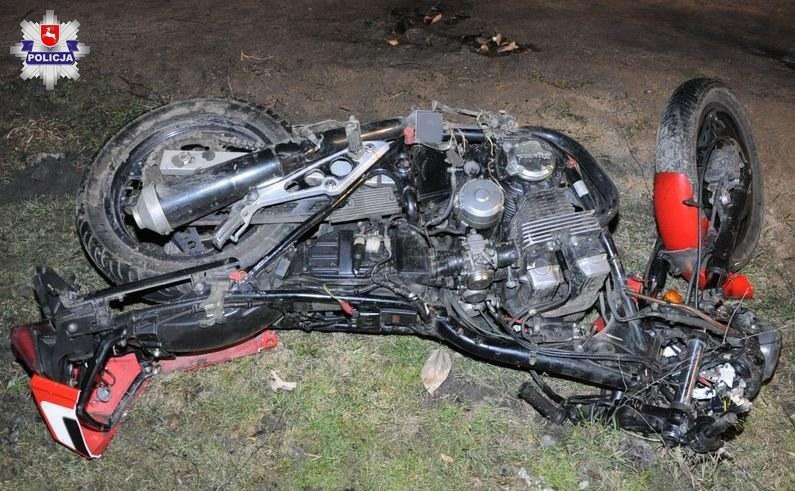Młody motocyklista zginął na miejscu /