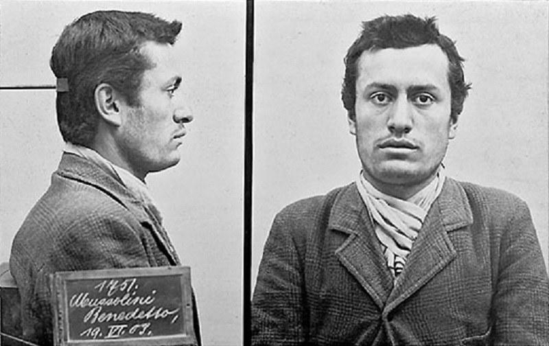 Młody Mussolini zatrzymany za brak dokumentów /Wikipedia