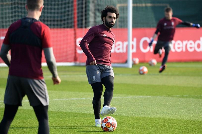 Mo Salah na treningu /AFP