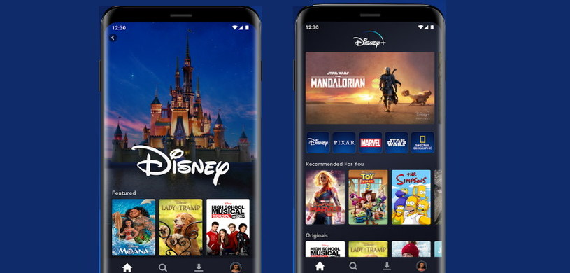 Mobilna aplikacja Disney+ /materiały prasowe