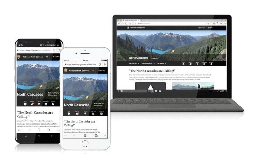 Mobilny Microsoft Edge będzie pozwalał na synchronizację z przeglądarką desktopową /materiały prasowe
