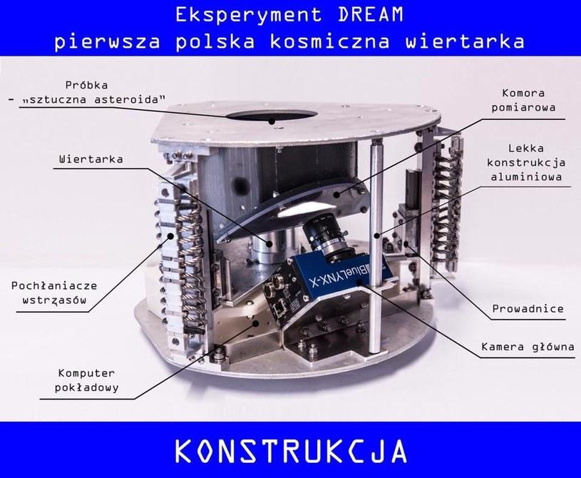 Model kosmicznej wiertarki opracowanej w ramach projektu DREAM /materiały prasowe