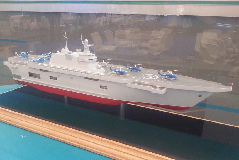 """Model okrętu typu """"Priboj"""" pokazany na targach Armia-2015 /Artiom Tkaczenko /domena publiczna"""