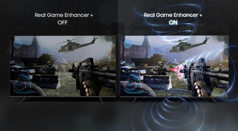 Model QLED 8K Q950T wyposażono w funkcję Real Game Enhancer+ /materiały promocyjne
