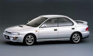 Model WRX - jako odmiana Imprezy - pojawił się na rynku w 1992 roku. /Subaru