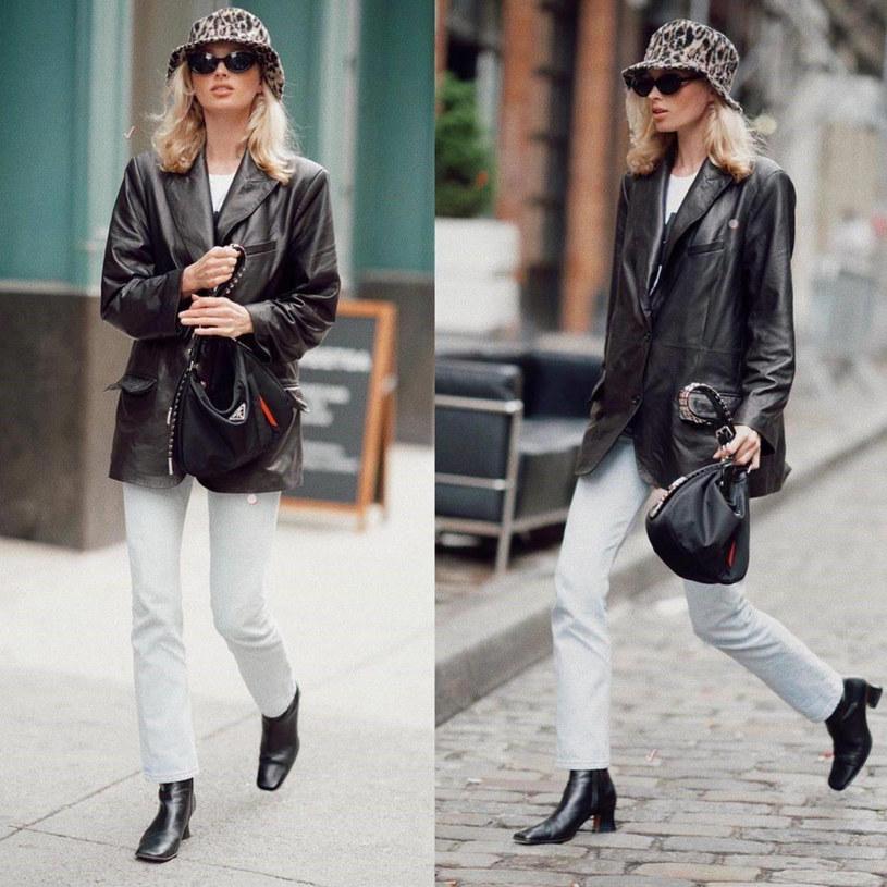 Modelka Elsa Hosk w najmodniejszych spodniach wiosny /Wiese/face to face/FaceToFace/REPORTER /East News