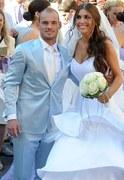 Modelka Yolanthe Cabau poślubiła gwiazdę Interu - Wesleya Sneijdera
