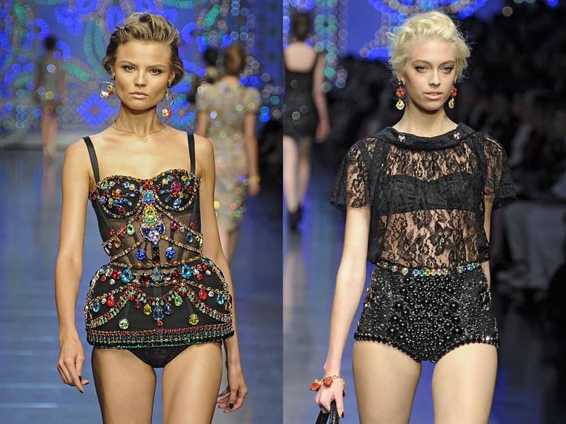 Modelki a pokazie Dolce&Gabbana /East News/ Zeppelin