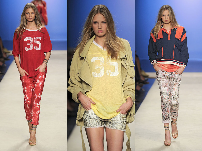 Modelki na pokazie Isabel Marant /East News/ Zeppelin