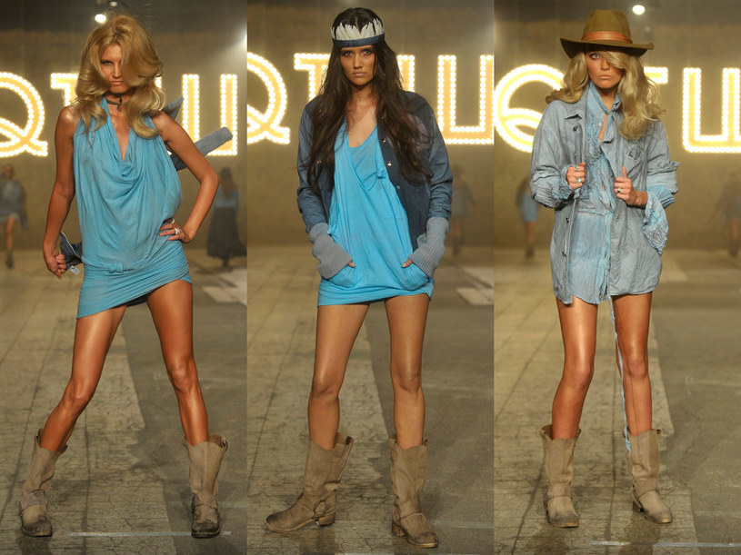 Modelki na pokazie Roberta Kupisza /Jacek Kurnikowski /AKPA