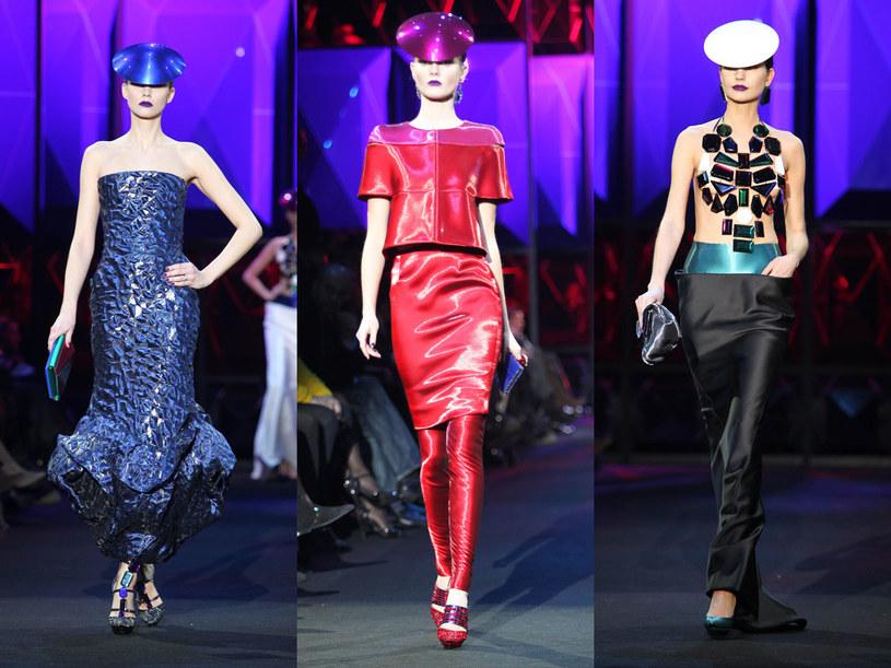 Modelki na pokazie w Paryżu  /Getty Images/Flash Press Media
