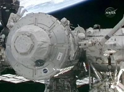 Moduł Tranquility już zainstalowany  /NASA TV