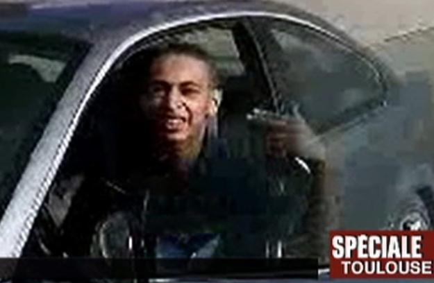 Mohamed Merah we francuskiej telewizji /AFP