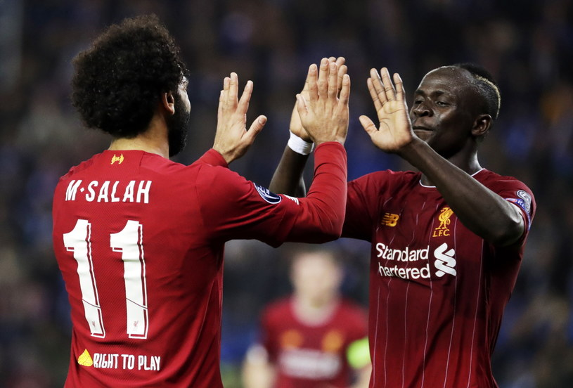 Mohamed Salah i Sadio Mane z Liverpoolu /PAP/EPA