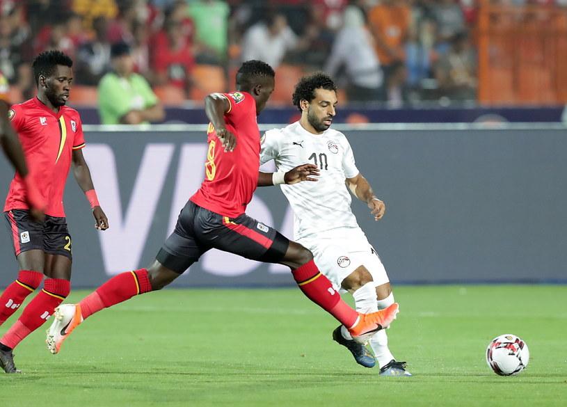 Mohamed Salah strzelił gola  w meczu z Ugandą /PAP/EPA