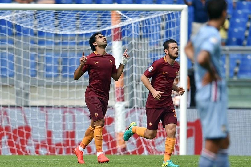 Mohamed Salah (z lewej) /AFP