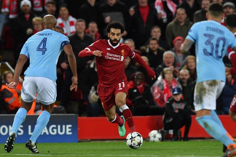 Mohamed Salah z Liverpoolu w meczu z Manchesterem City /AFP