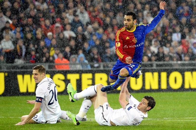 Mohamed Salah zdobywa bramkę dla Basel /PAP/EPA