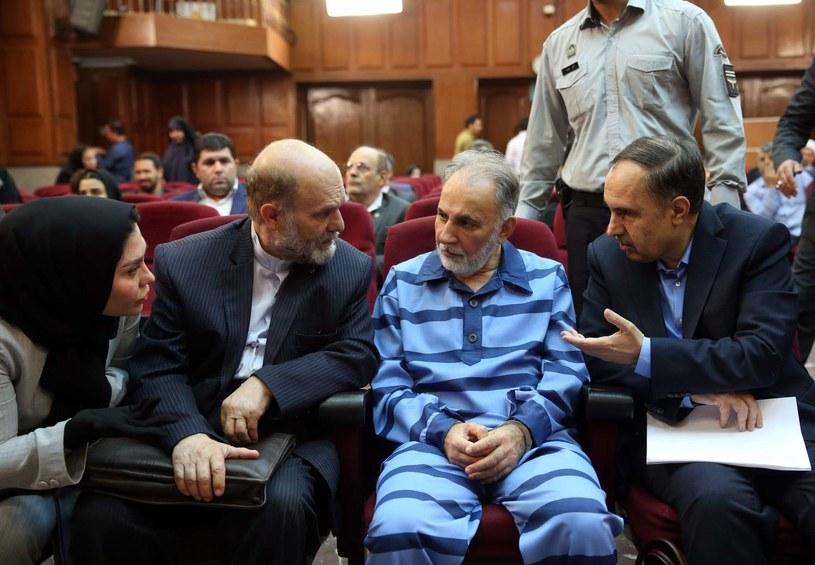 Mohammad Ali Najafi podczas rozprawy /Meghdad Madadi/Tasnim News Agency /AFP