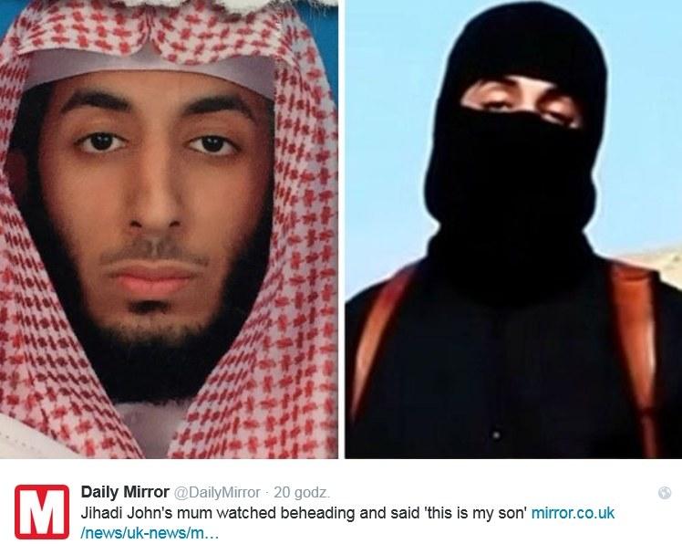 "Mohammed Emwazi walczy w Syrii i Iraku jako ""Jihadi John"" /Twitter"