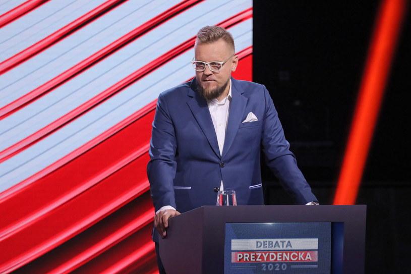 """""""Moim zdaniem debatę wygrał Paweł Tanajno"""" /Paweł Supernak /PAP"""