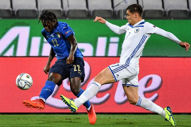 Moise Kean (z lewej) w barwach reprezentacji Włoch /AFP