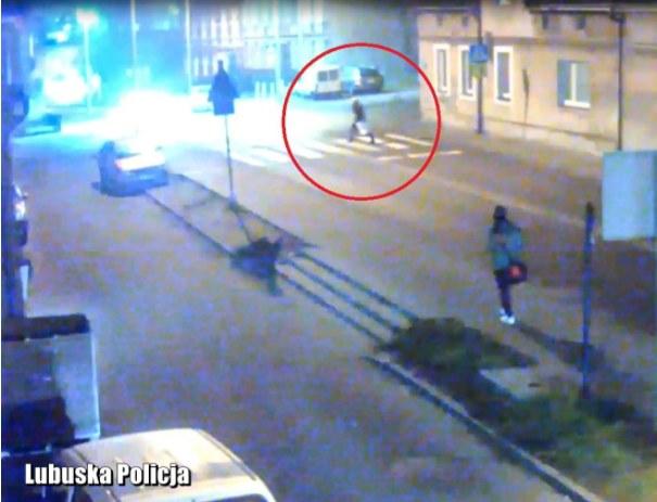 Moment potrącenia zarejestrowała kamera /http://zgora.lubuska.policja.gov.pl/ /Policja