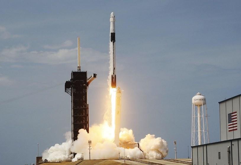 Moment startu Falcon 9 w sobotę o godzinie 21:22 (czasu polskiego) /AFP