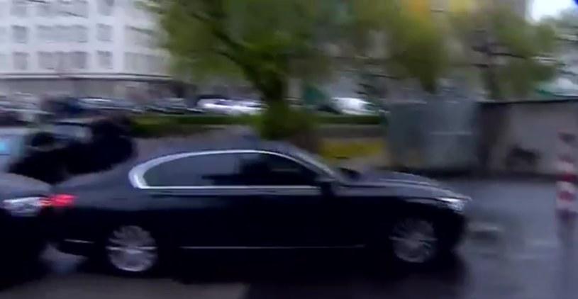 Moment stłuczki /Polsat News /Twitter