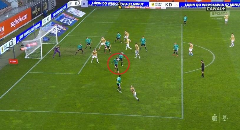 Moment zagrania ręką (źródło: Canal+ Sport) /INTERIA.PL