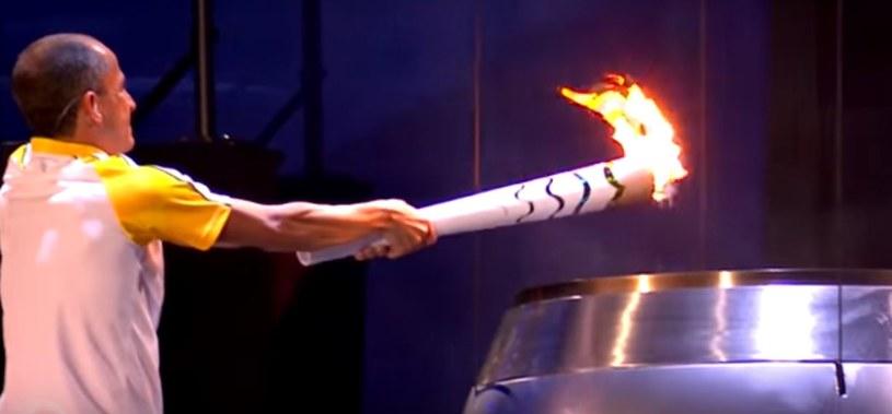 Moment zapalenia znicza olimpijskiego podczas IO w Rio de Janeiro. /INTERIA.PL