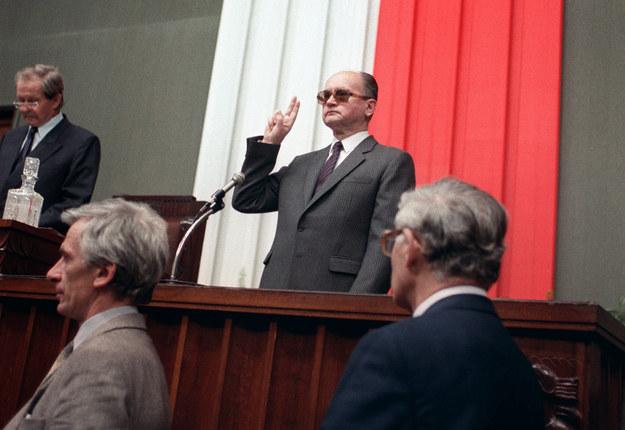 Moment zaprzysiężenia Wojciech Jaruzelskiego na prezydenta PRL /Wojtek Druszcz /AFP