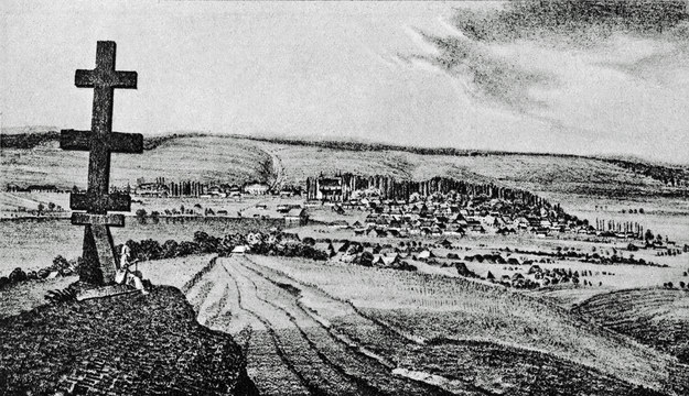 Monasterzyska, woj. tarnopolskie. Ok. 1847 r. /FoKa /Agencja FORUM