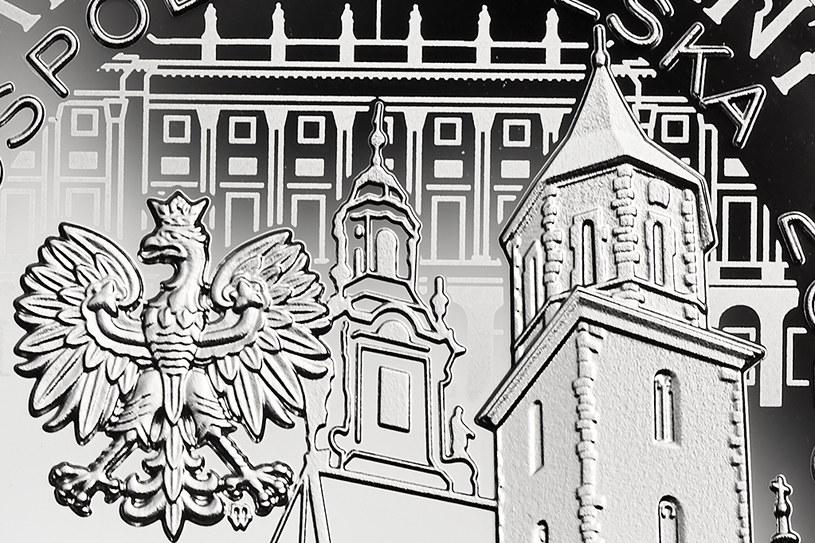 Moneta kolekcjonerska NBP - 10. rocznica tragedii smoleńskiej, 10 zł, detal awersu /NBP