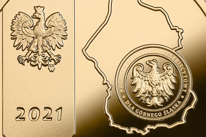 """Moneta kolekcjonerska NBP: """"100. rocznica III Powstania Śląskiego"""", szczegóły awersu /NBP"""