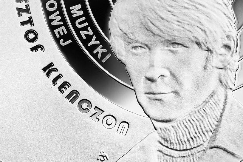 Moneta kolekcjonerska NBP: Historia polskiej muzyki rozrywkowej - Krzysztof Klenczon, 10 zł, detal rewersu /NBP