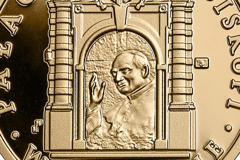 Moneta kolekcjonerska NBP: Pałac Biskupi w Krakowie, 100 zł, detal rewersu /NBP