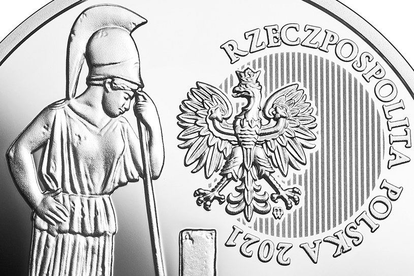 Moneta kolekcjonerska NBP: Polskie Termopile - Dytiatyn, 20 zł, detal awersu /NBP