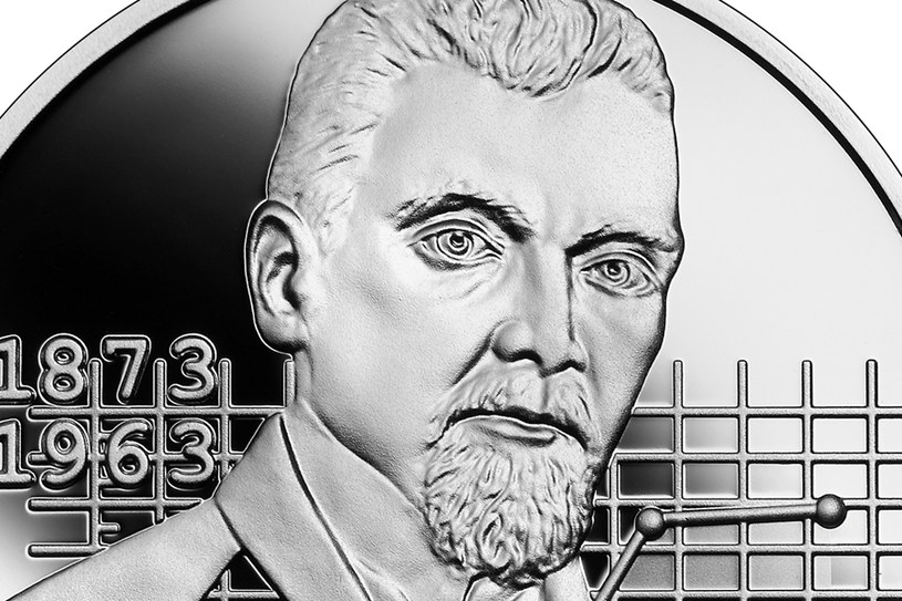 Moneta kolekcjonerska NBP: Wielcy polscy ekonomiści - Adam Krzyżanowski, 10 zł, detal rewersu /NBP