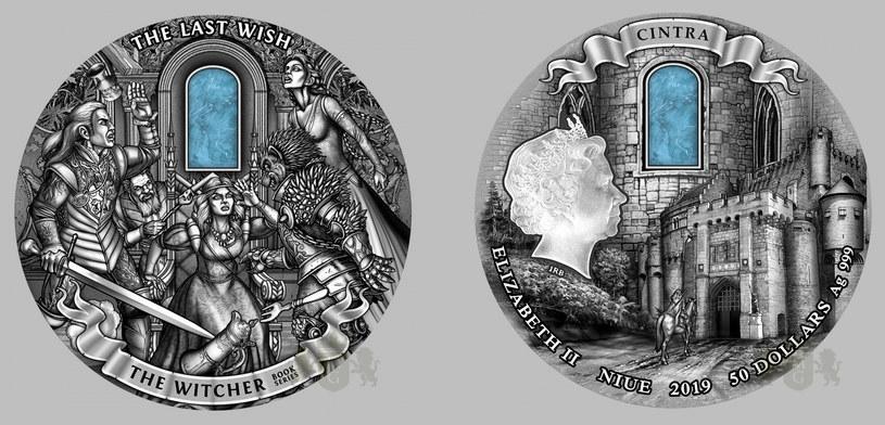 Moneta Mennicy Gdańskiej z serii Wiedźmin: Ostatnie Życzenie o nominale 50 dolarów /Mennica Gdańska /materiały prasowe