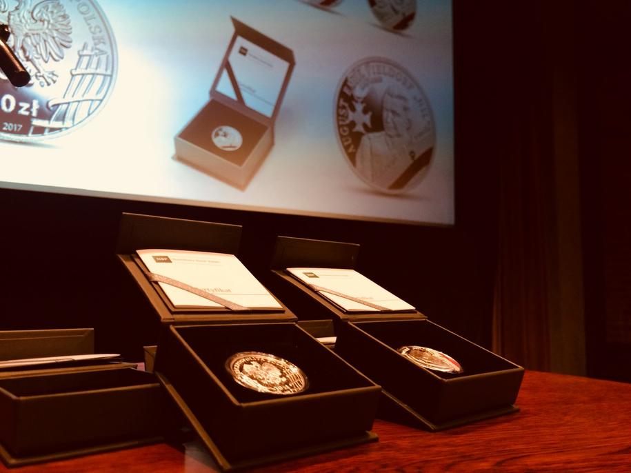 Moneta wykonana została z wykorzystaniem stempla lustrzanego /Agnieszka Wyderka /RMF FM