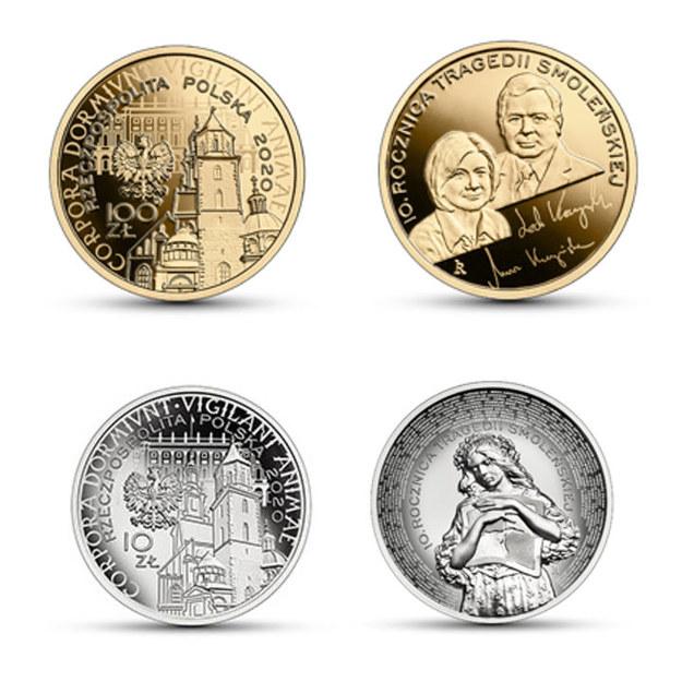 Monety kolekcjonerskie wyemitowane przez NBP w kwietniu 2020 /NBP / nbp.pl /