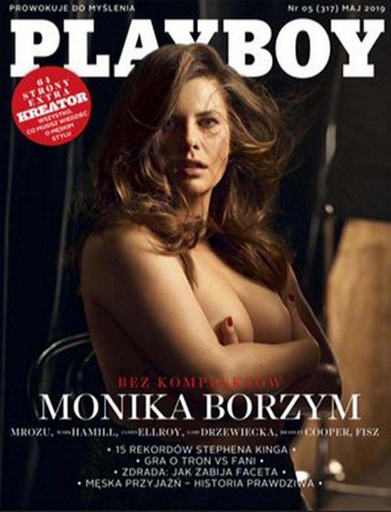 """Monika Borzym na okładce """"Playboya"""" /materiały prasowe /materiały prasowe"""