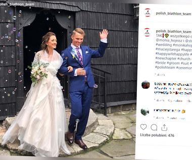 Monika Hojnisz i Maciej Staręga wzięli ślub. Wideo