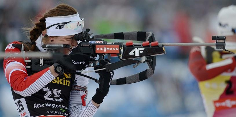 Monika Hojnisz zdobyła dla Polski brązowy medal biathlonowych MŚ /PAP/EPA